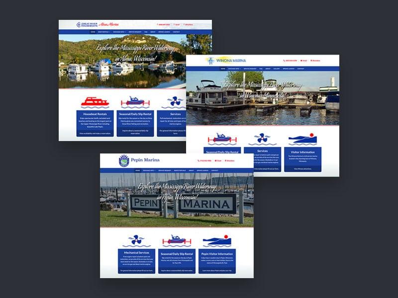Marina Website Design - Alma, Pepin & Winona Marinas