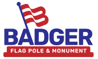 Badger Flag Pole & Monument Logo