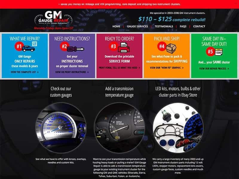 GM Gauge Repair Website