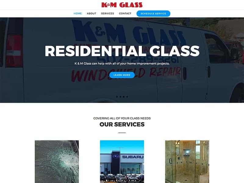 Glass Repair Website Design