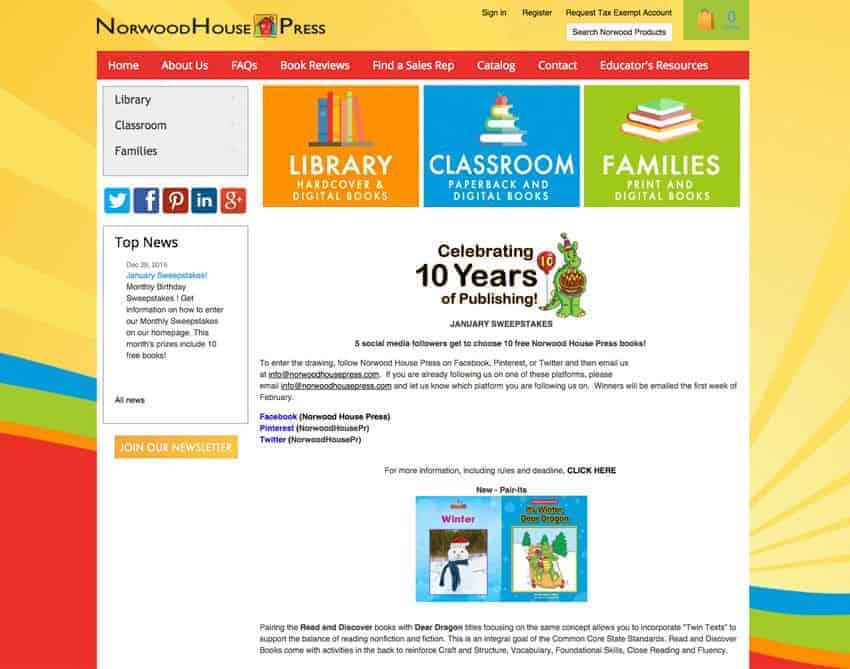 Norwood House Press Website