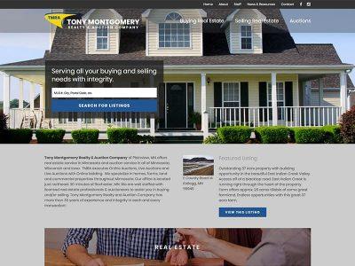 Site Launch: Tony Montgomery Realty U0026 Auction Company