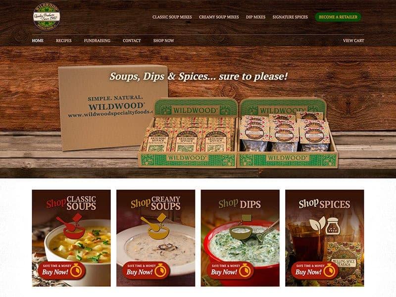 Food Manufacturing Website Design