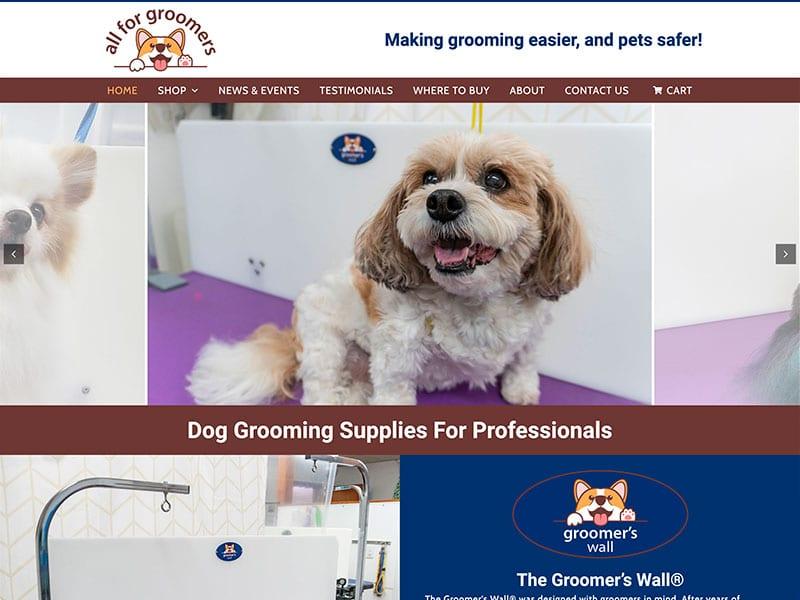 Consumer Website Design - All for Groomers