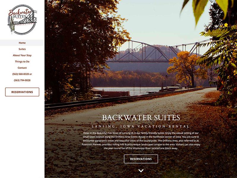 Lodging Website Design - Backwater Suites
