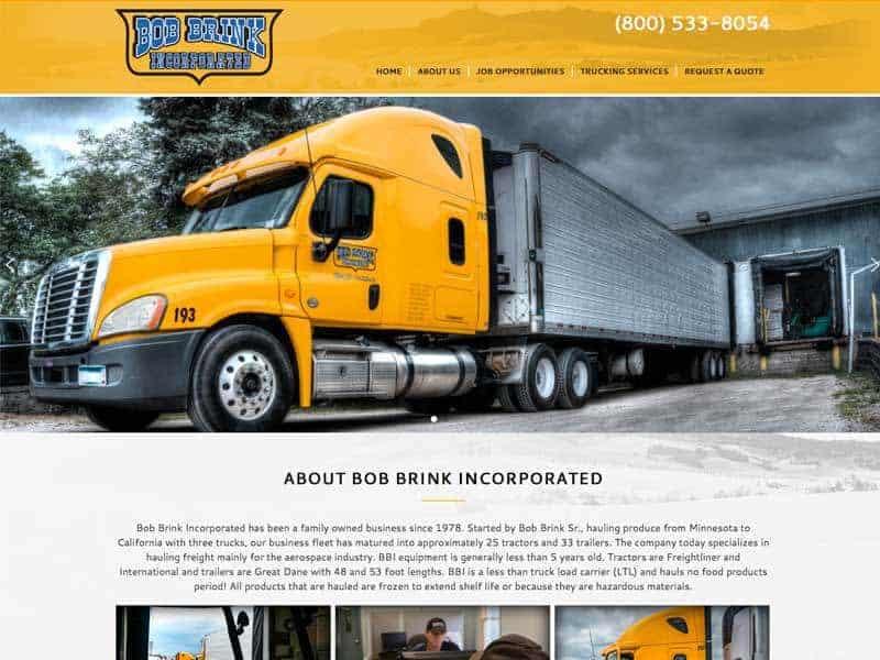 Trucking Company Website Design