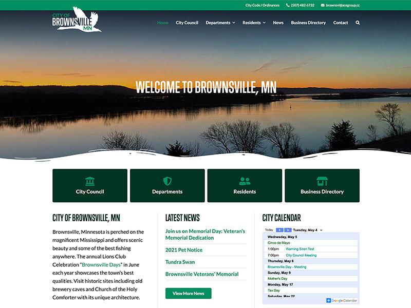 Municipal Website Design - City of Brownsville