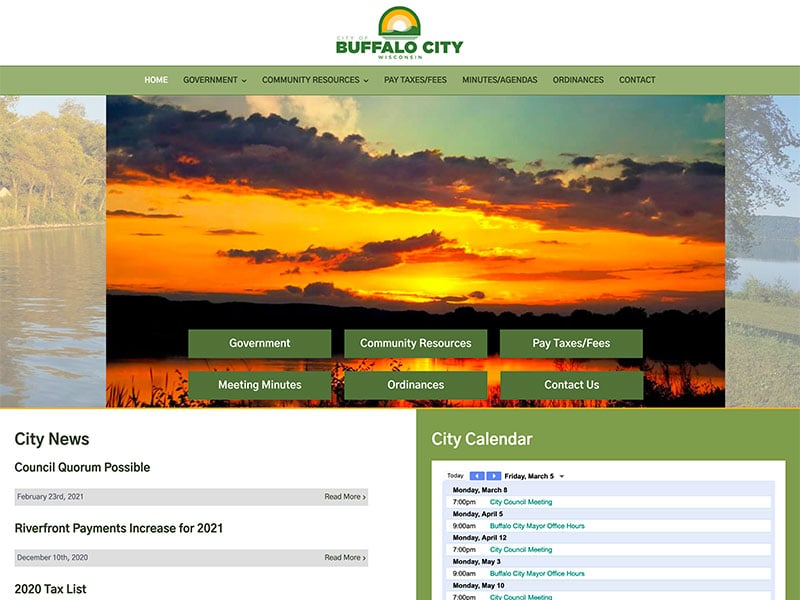 City Website Design
