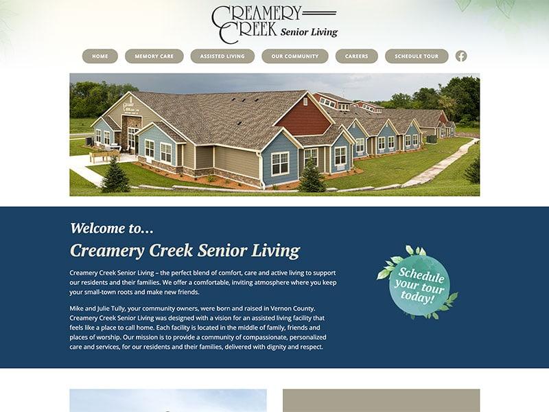 Creamery Creek Senior Living Website Design