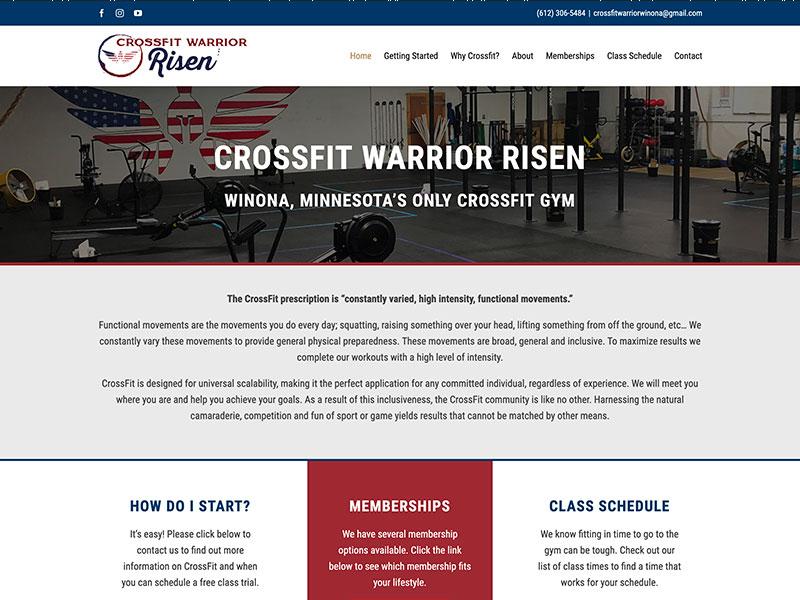 Professional Service Website Design - Crossfit Warrior Risen