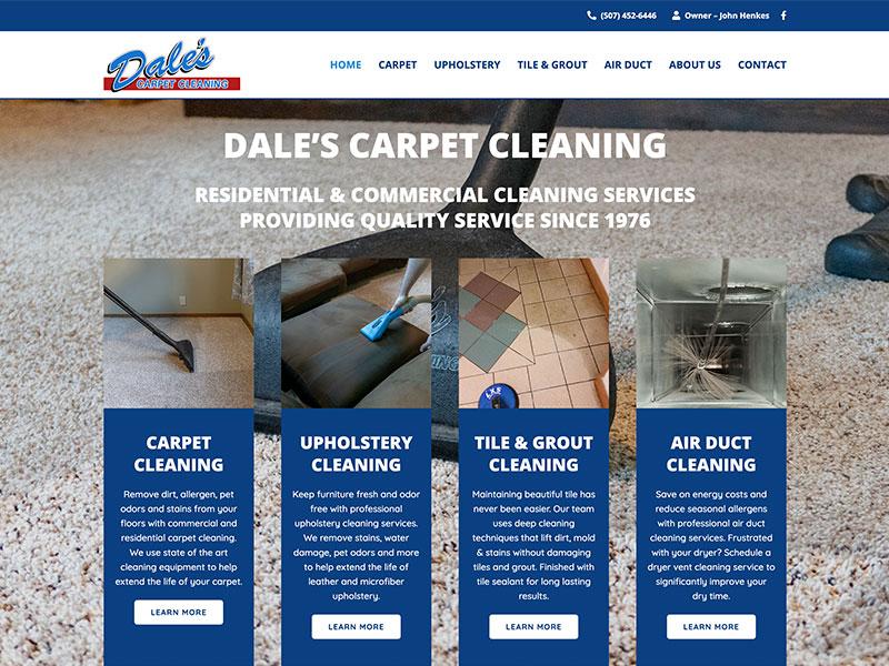 Professional Service Website Design - Dale's Carpet Cleaning