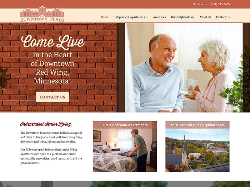 Senior Living Website Design - Downtown Plaza