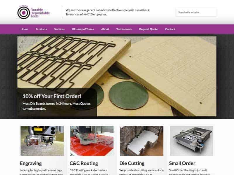 Industrial Manufacturing Website Designs