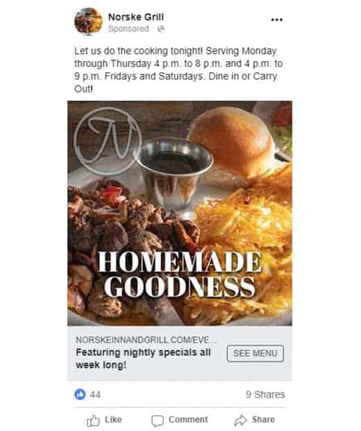 Facebook ads Vision Design