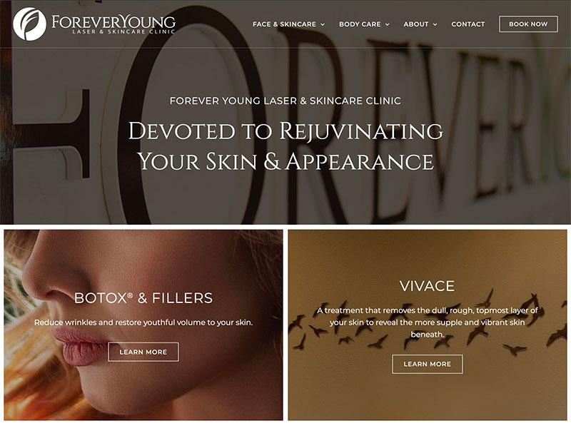 Medical Website Design - Forever Young