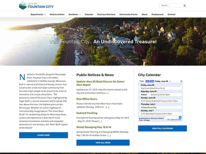 Municipal Website Design