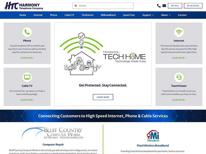 Professional Service Website Design - Harmony Tel