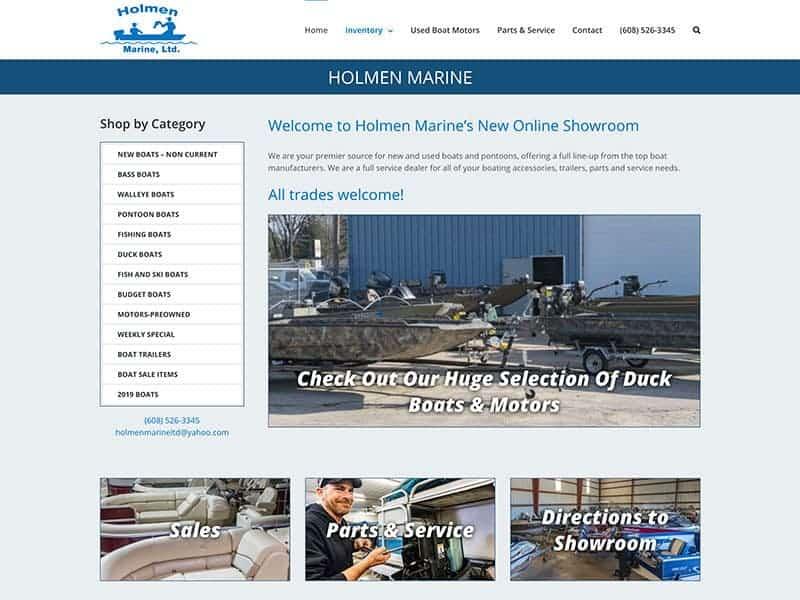 Marine Retail Website Design