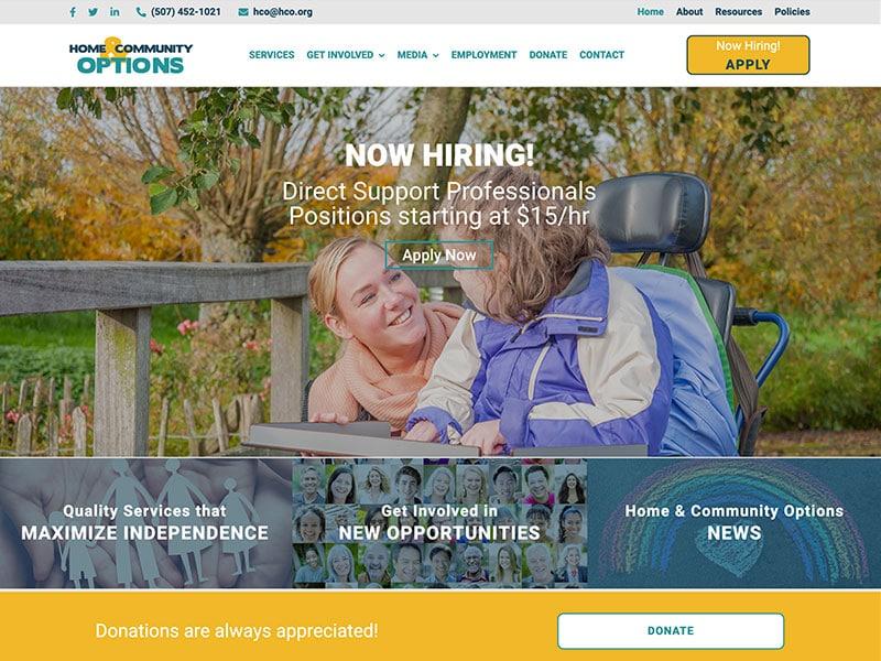 Non-Profit Website Design - HCO