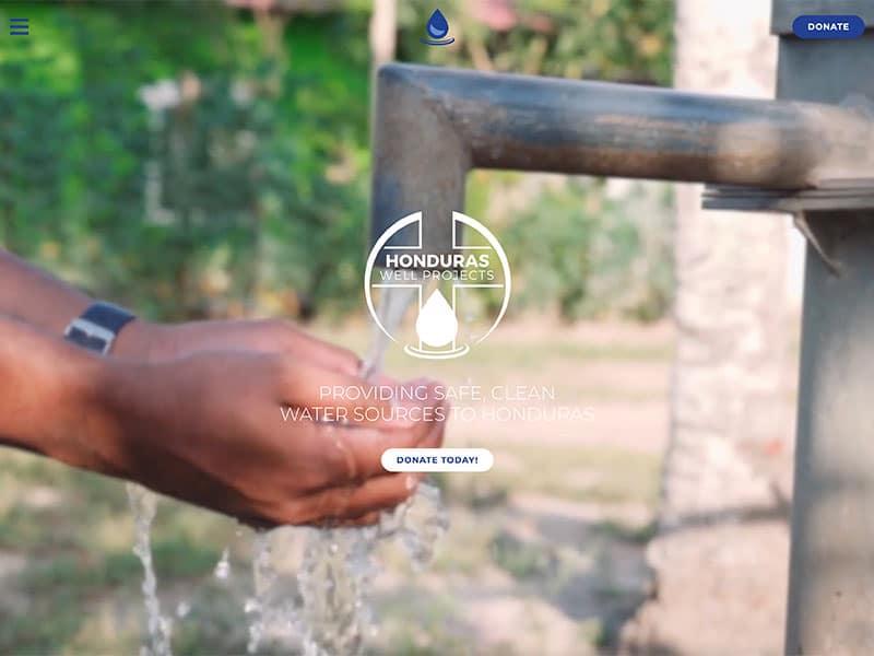 Non Profit Website Design - Honduras Well Projects