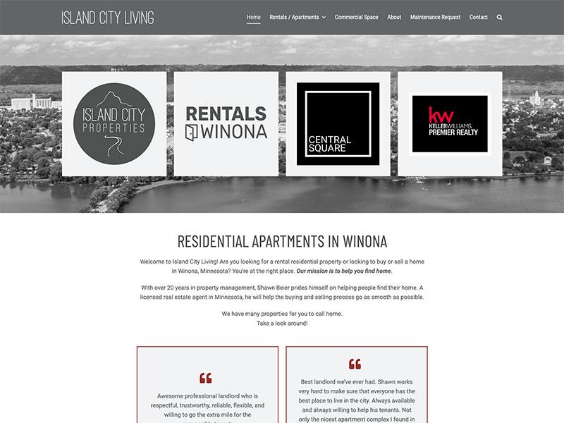 Property Management Website Design - Island City Living