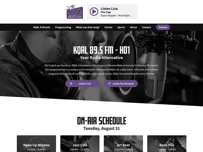 KQAL - Radio Station Website Design