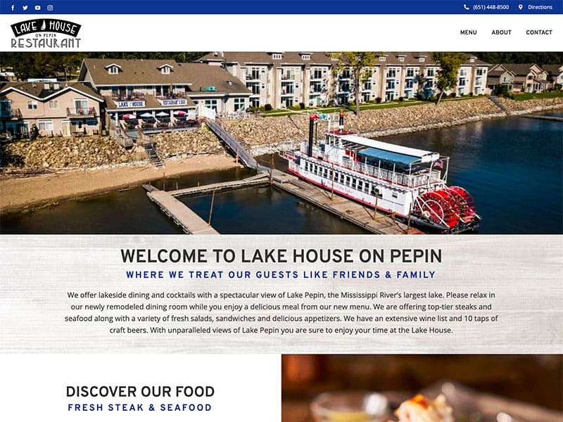 Restaurant, Winery & Bar Website Design