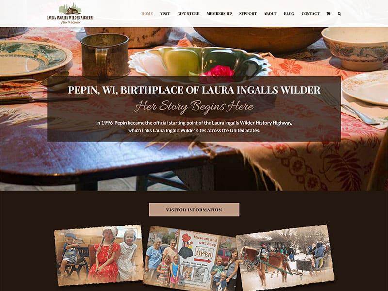 Museum Website Design - Laura Ingalls Wilder Museum