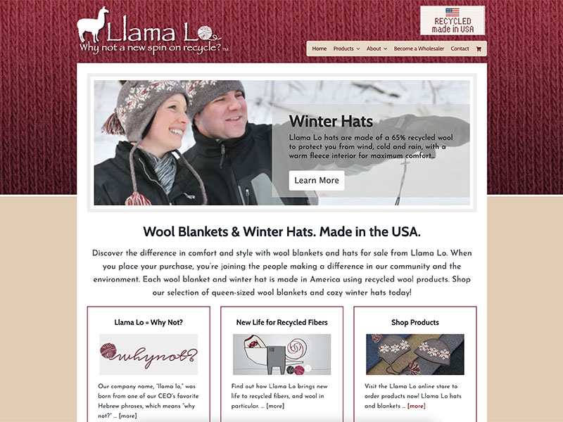 Llama Lo - Consumer Website Design