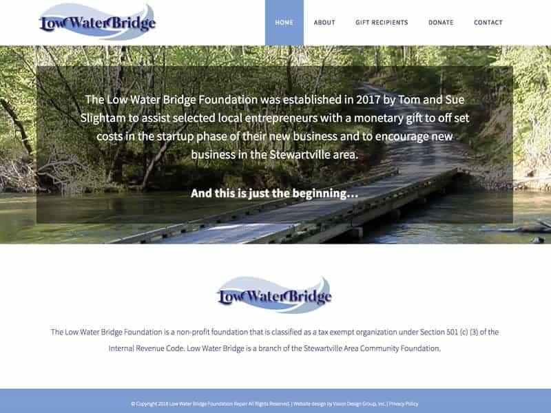 Low Water Bridge Foundation