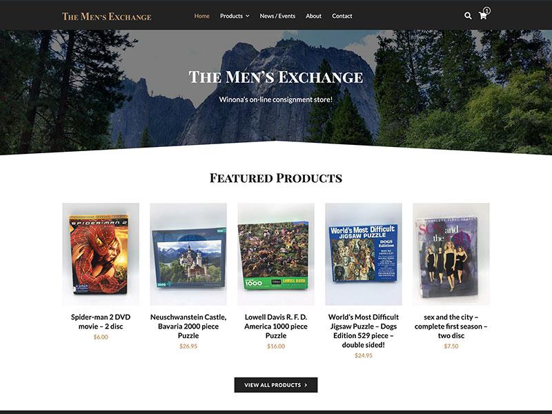 The Men's Exchange - eCommerce Website Design
