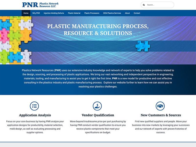 Professional Service Website Design - Plastics Network Resources