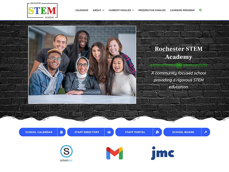 School Website Design - Rochester STEM Academy