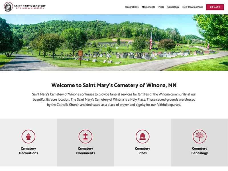 Cemetery Website Design