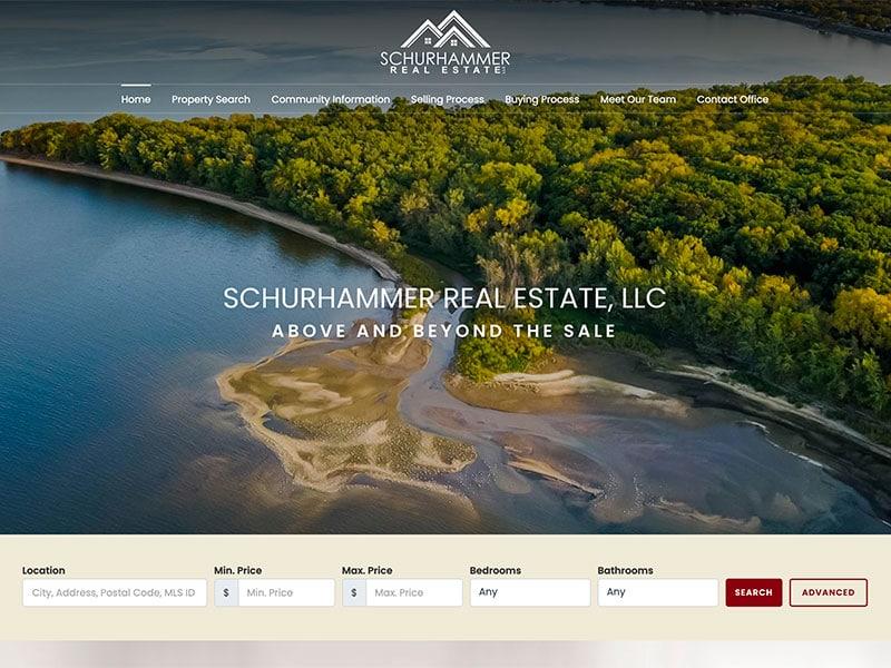 Real Estate Website Design - Schurhammer Real Estate
