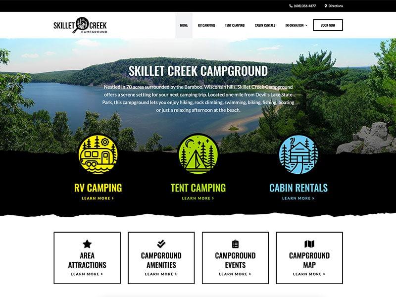 Campground Website Design