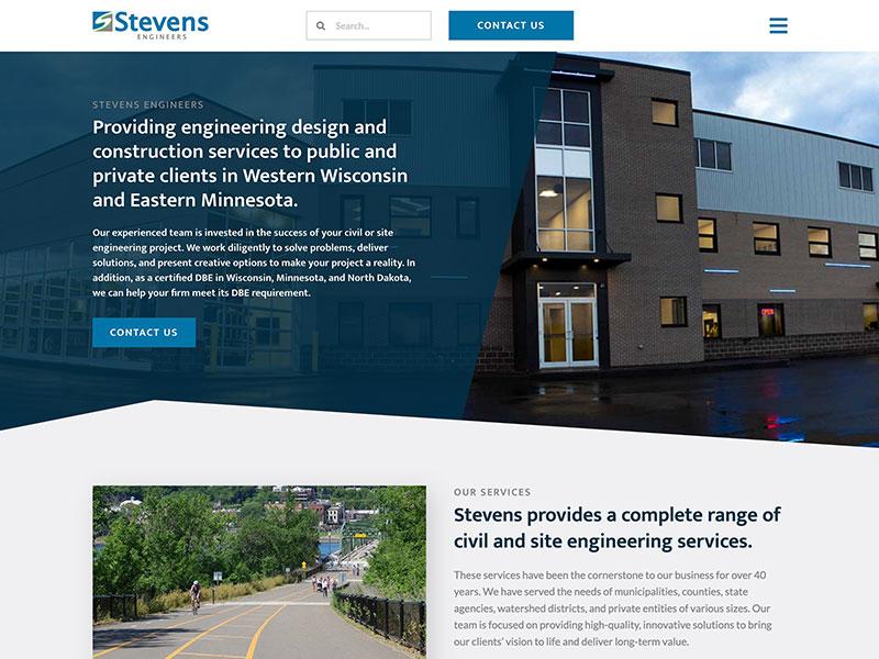 Steven Engineers - Construction Service Website Design