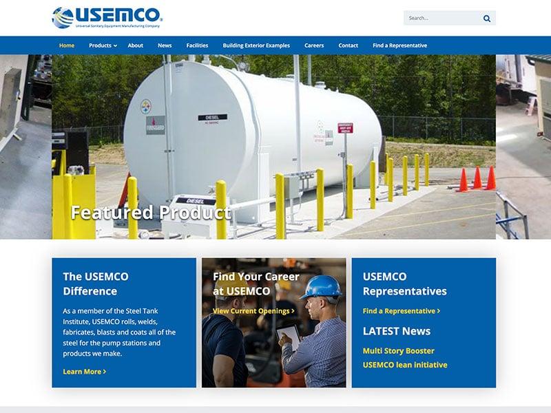 Usemco - Manufacturing Website Design