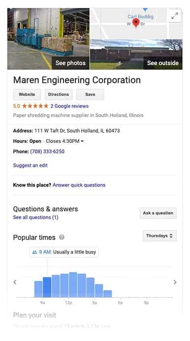Vision Design Google My Business