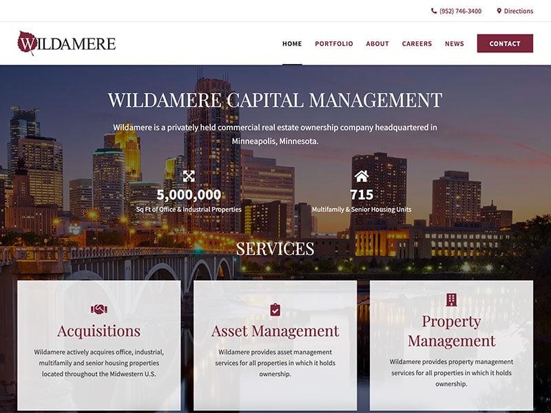 Property Management Website Design - Wildamere